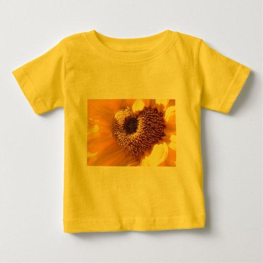Sunflowers heart baby T-Shirt