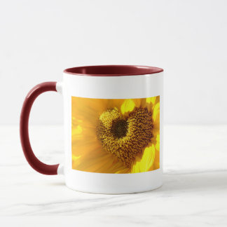 Sunflowers heart mug