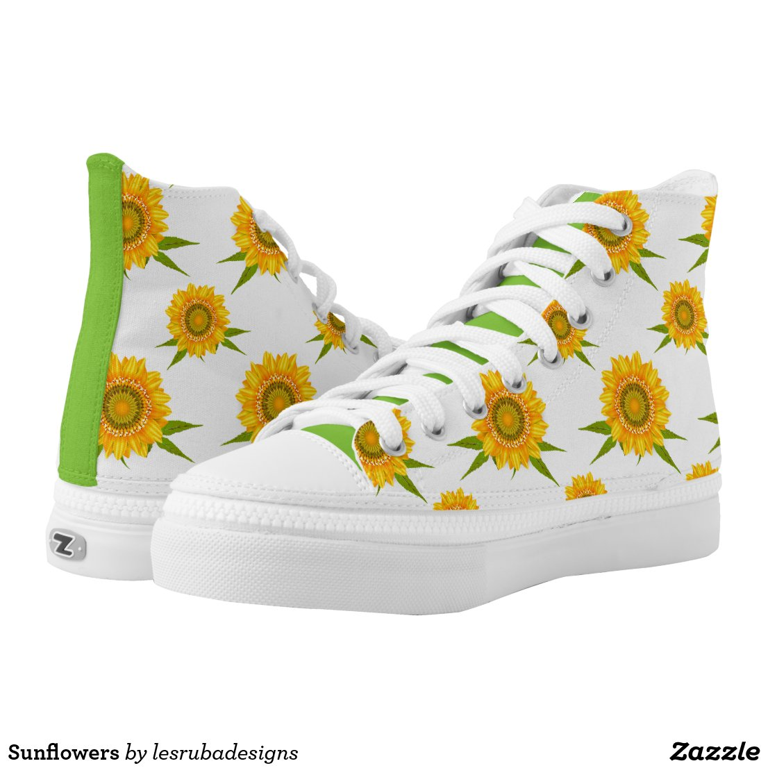 Sunflowers High-Top Sneakers