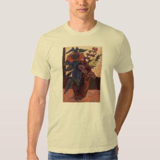 sunflowers, hollyhocks and Georgia by Modersohn Shirt