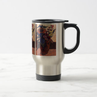 sunflowers, hollyhocks and Georgia by Modersohn Travel Mug