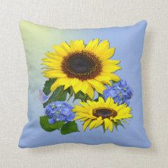 Sunflowers & Hydrangeas  ~ Pillow/Cushion