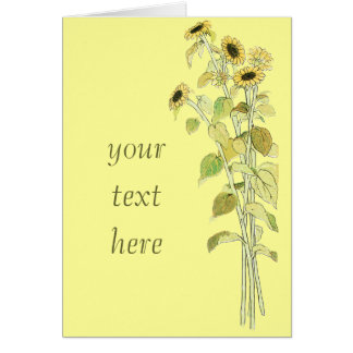 Sunflowers Illustration by Kate Greenaway Card