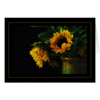 Sunflowers Impasto Paint Greeting Cards