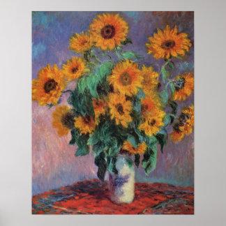 Sunflowers Impressionism Poster
