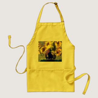 Sunflowers in a Blue Vase Adult Apron