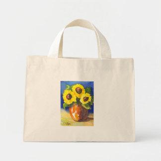 Sunflowers in a Clay Pot Mini Tote Bag