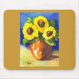 Sunflowers in a Clay Pot Mouse Pad