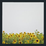 """Sunflowers in a Field Faux Canvas Print<br><div class=""""desc"""">Sunflowers in field against the sky</div>"""
