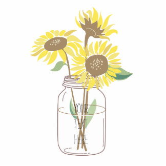 Sunflowers in a Mason Jar Cut Outs