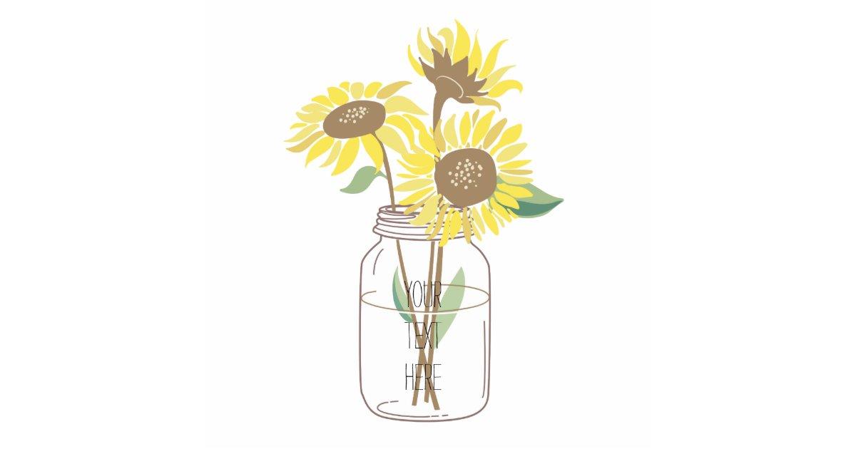 Sunflowers In A Mason Jar Statuette Zazzle