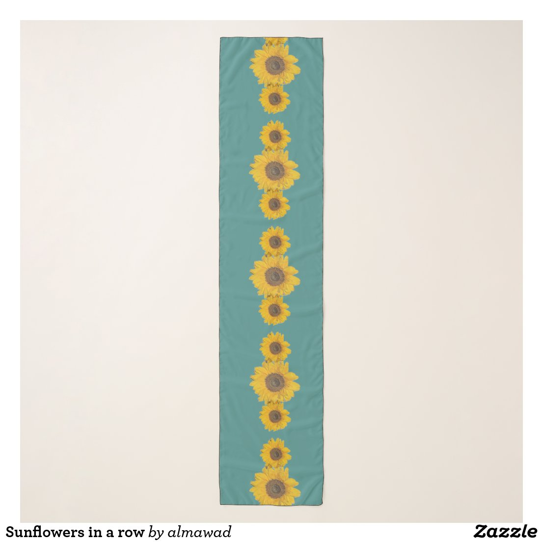 Sunflowers in a row scarf