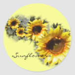 Sunflowers in a Row Sticker