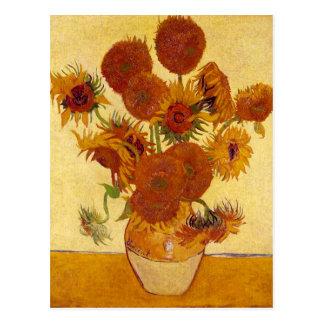 Sunflowers in a Vase (F454) Van Gogh Fine Art Postcard