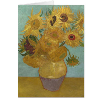 Sunflowers in a Vase (F455) Van Gogh Fine Art Card