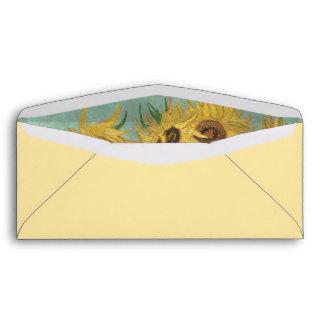Sunflowers in a Vase (F455) Van Gogh Fine Art Envelopes