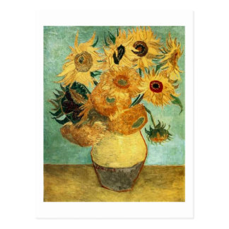 Sunflowers in a Vase (F455) Van Gogh Fine Art Postcard
