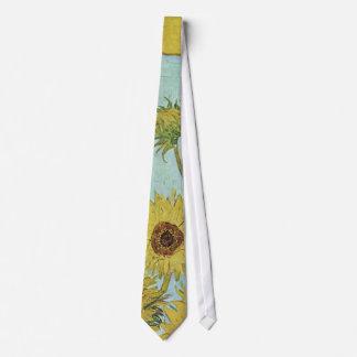 Sunflowers in a Vase (F456) Van Gogh Fine Art Neck Tie