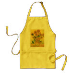 Sunflowers in a Vase (F457) Van Gogh Fine Art Adult Apron