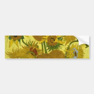 Sunflowers in a Vase Van Gogh Fine Art Bumper Sticker