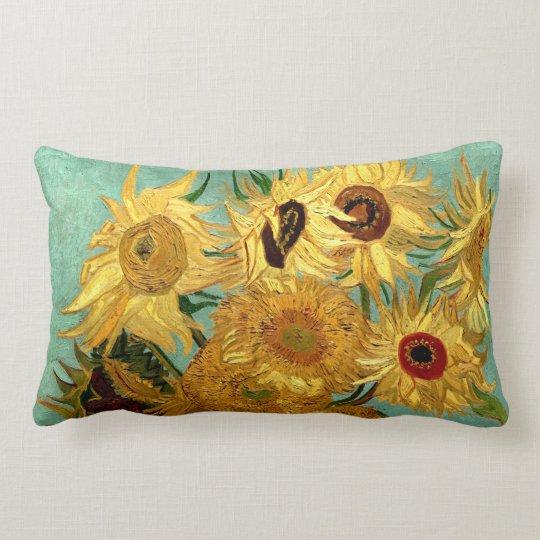 Sunflowers in a Vase Van Gogh Fine Art Lumbar Pillow