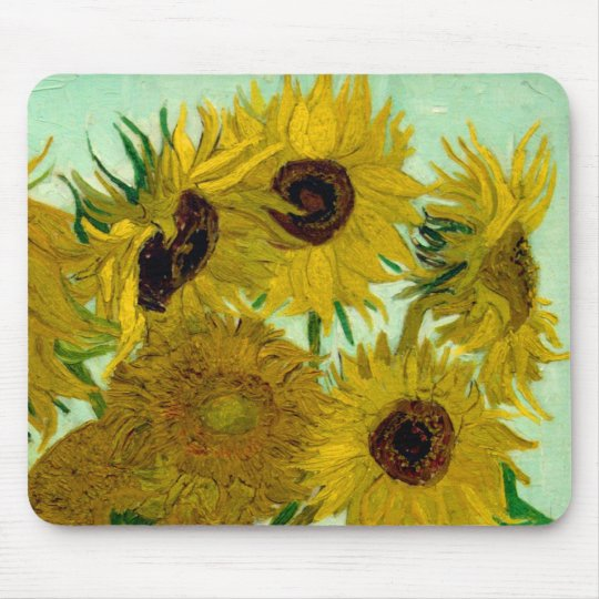 Sunflowers in a Vase Van Gogh Fine Art Mouse Pad