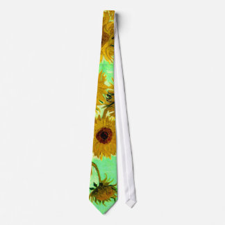 Sunflowers in a Vase Van Gogh Fine Art Tie