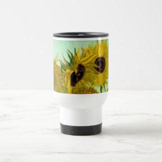 Sunflowers in a Vase Van Gogh Fine Art Travel Mug