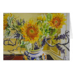 Sunflowers in an Italian Vase Card