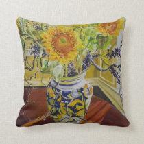 Sunflowers in an Italian Vase Throw Pillow