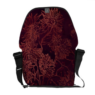 Sunflowers in Burgundy Courier Bag