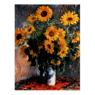 Sunflowers in detail postcard