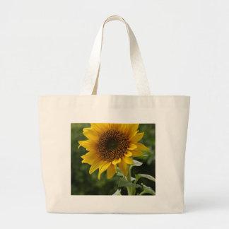 Sunflowers In Field Jumbo Tote Bag