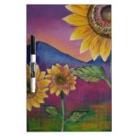 Sunflowers in front of Mountains Dry-Erase Whiteboards