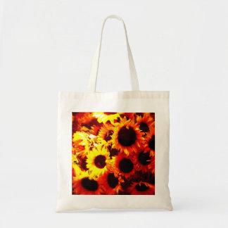 Sunflowers in has window! tote bag
