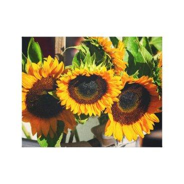 partridgelanestudio Sunflowers in Sunshine Canvas Print