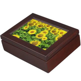 Sunflowers In The Field Keepsake Box