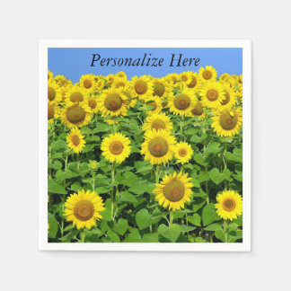 Sunflowers In The Field Paper Napkin