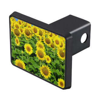 Sunflowers In The Field Trailer Hitch Covers
