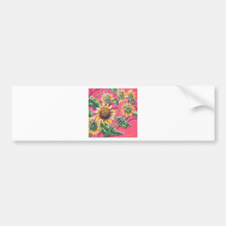 sunflowers in the pink bumper sticker