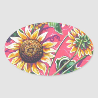 sunflowers in the pink stickers