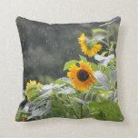 Sunflowers in the Rain Pillow