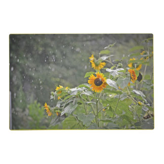 Sunflowers In The Rain Placemat