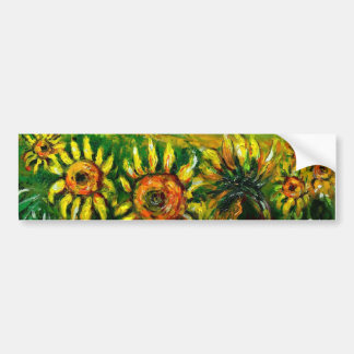 SUNFLOWERS IN TUSCANY COUNTRYSIDE -detail Bumper Sticker