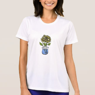 Sunflowers In Vase...Ladies Top... T-Shirt