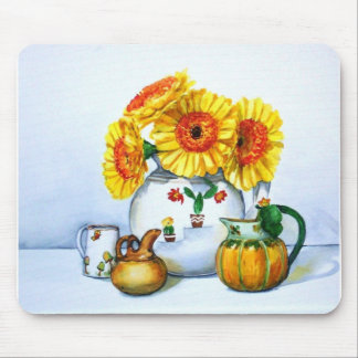 Sunflowers in Vase Mousepad