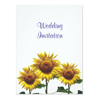Sunflowers Inexpensive Wedding Packages Sets Kits Card