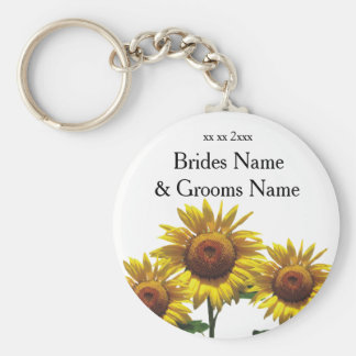Sunflowers Inexpensive Wedding Packages Sets Kits Keychain