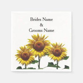Sunflowers Inexpensive Wedding Packages Sets Kits Napkin