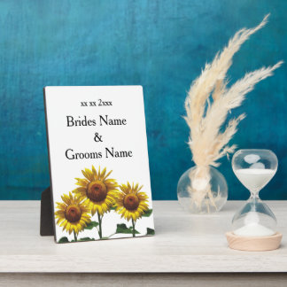 Sunflowers Inexpensive Wedding Packages Sets Kits Plaque